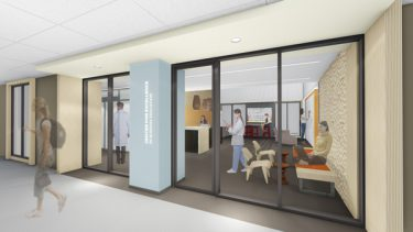 Artist rendering of the simulation center entry