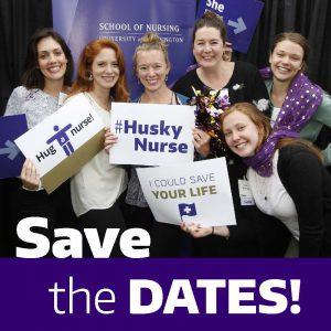 Save the dates! photo of alumni showing Husky Nurse pride