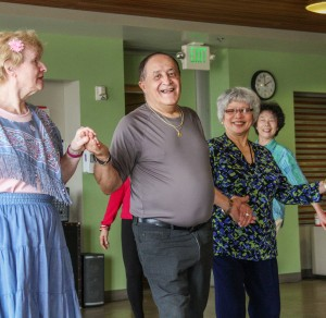 Dancing seniors at Pike Market Senior Center