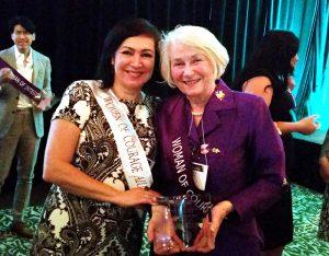 Azita Emami and Nancy Woods