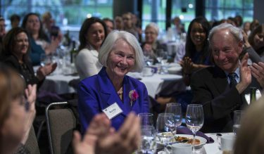 Nancy Woods honored at the 2016 Nurses Recognition Banquet in the Fisher Pavilion at the Seattle Center on Wednesday May 4, 2016 in Seattle. (PHOTO by Stephen Brashear)