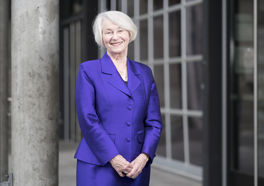 Dean Emerita Nancy Woods at the University of Washington School of Nursing 2017 Nurses Recognition Banquet at the Fister Pavilion on Wednesday May 7, 2017 in Seattle. (PHOTO by Stephen Brashear)