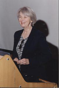 Nancy Woods receives an award