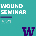 Foreground text states Wound Seminar 2021.